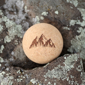 """Mountains"" Cork Massage Ball"