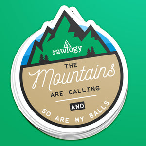 """Mountains are Calling..."" Sticker"