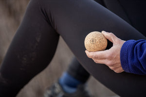 """Abstract Runner"" Cork Massage Ball"