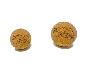 """Bear"" Cork Massage Ball"