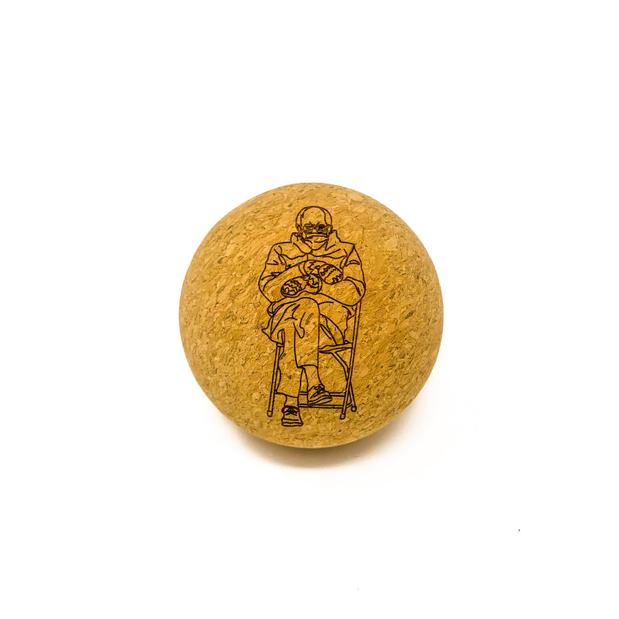 """Bernie at the Inauguration"" Cork Massage Ball (Limited Edition)"