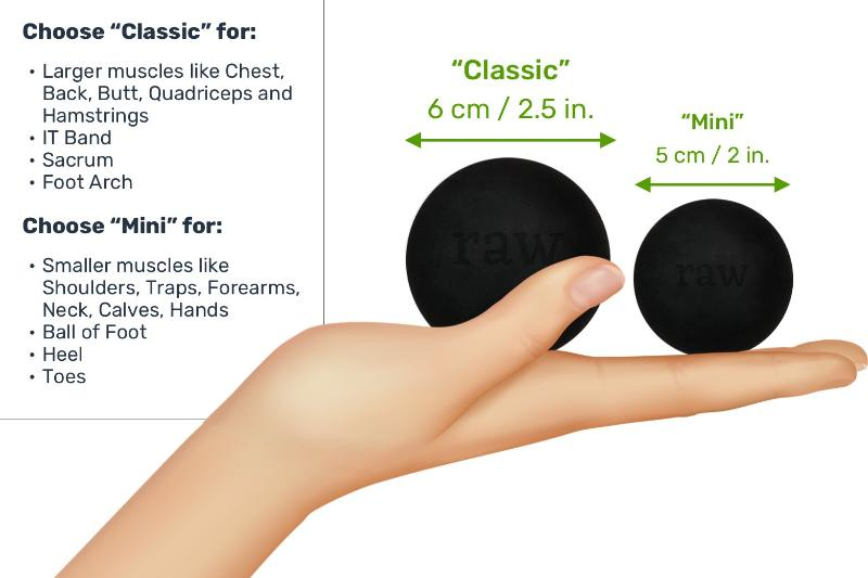 BPA-Free RAW Rubber Massage Balls (2 Sizes)