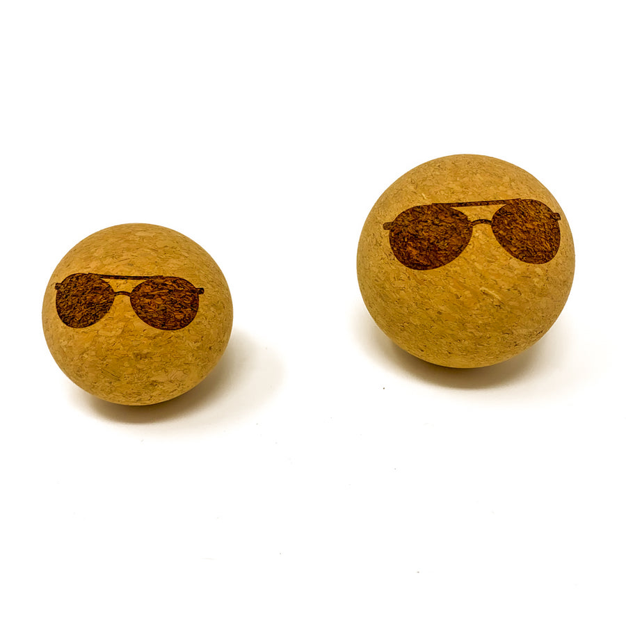 """Sunglasses"" Cork Massage Ball"