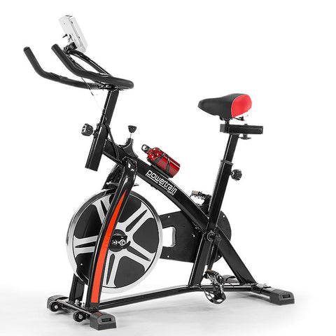 Exercise Spin Bike Heavy Flywheel Powertrain - Black