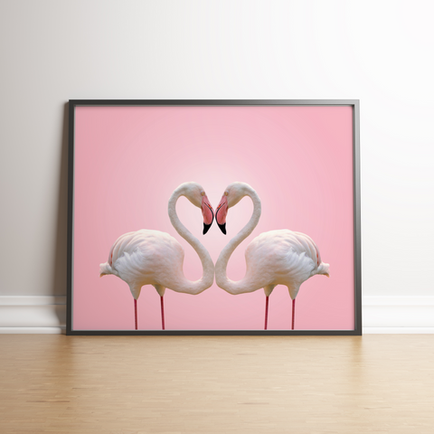 Heart Of Flamingos Poster