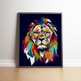 Color Lion Poster