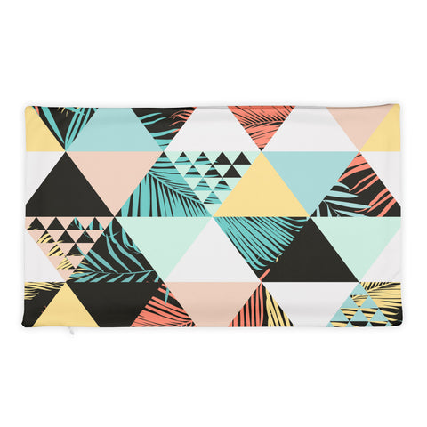 Color Triangle Pillow Case
