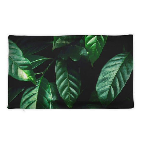 Green Leaves Pillow Case
