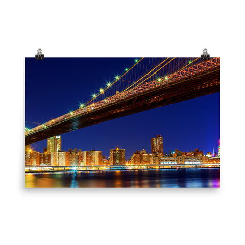 Bridge At Night Poster