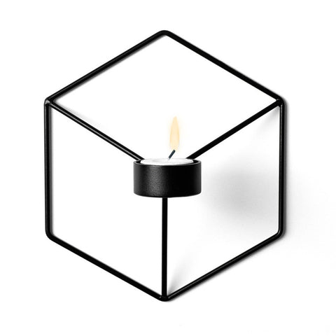 Nordic Style 3D Geometric Wall Candle Holder