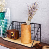 Wood Iron Wall Hanging Basket