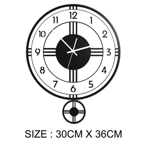 Swingable Modern Design Wall Clock