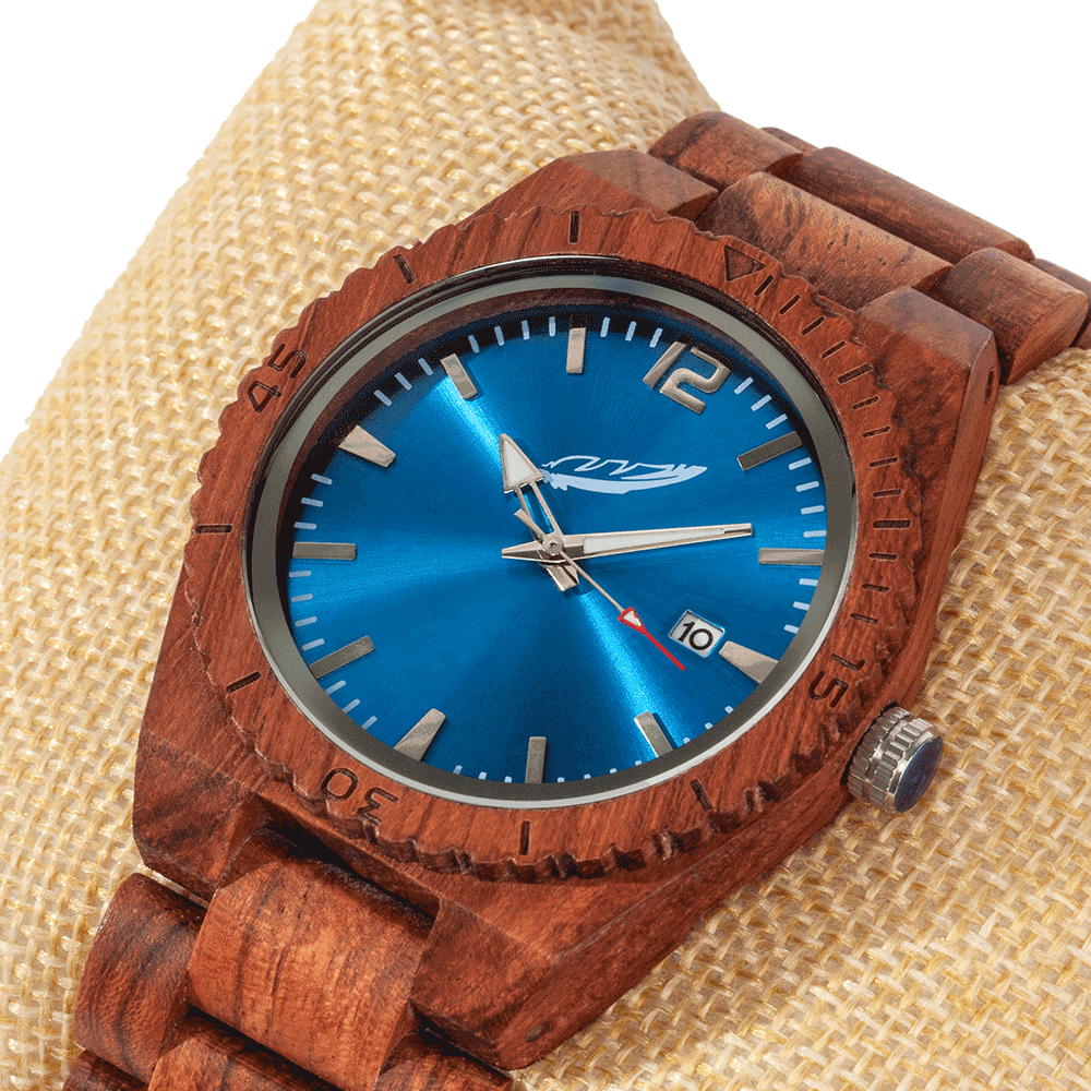 Men's Personalized Engrave Kosso Wood Watches - Custom Engraving