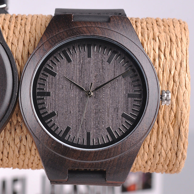 Engraved Wood Watches for Men Personalized Family