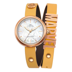 Disney Women's Watch The Avengers Captain Marvel Female Fashion Leather Bracelet Watch Set Waterproof Strap Quartz Watches