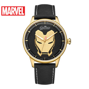 Disney Marvel Quartz Watch Belt Casual Trend Personality Gifts for Men Iron Man Watch Mens Watch 5Bar Alloy Fashion & Casual