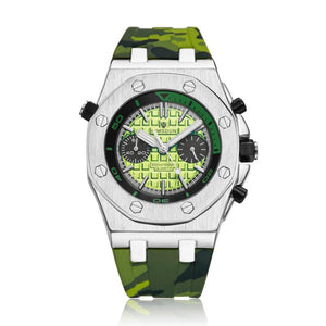 KIMSDUN men watch Two-eye silicone camouflage belt sports watch silicone luminous waterproof quartz watch g shock Wrist Watches