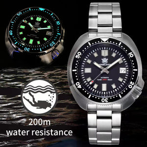 STEELDIVE 200M Dive Watch Automatic Mechanical Men's watch NH35 Japan C3 Super Luminous Diver watch men watches Stainless Steel