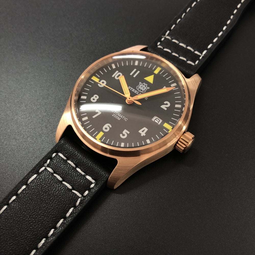 STEELDIVE Re-engraved 1948 Mark 10 Pilot Watch Men Automatic Machanical Watch Japan NH35 200m Waterproof Automatic Watches