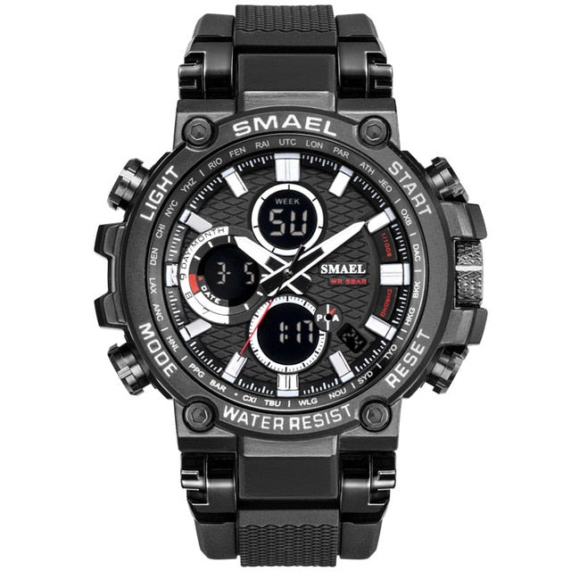 SMEAL Men Watch Digital Waterproof Clock Men Army Military Watches LED Men's Wrist Watch 1803 Sport Watch Relogio Masculino