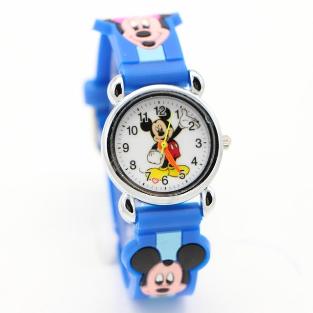 New arrival Fashion Leather cute minnie desgin kids watch cartoon WristWatch student Watches Horlog Relogio kol saati