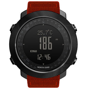 NORTH EDGE Altimeter Barometer Compass Men Digital Watches Sports Running Clock Climbing Hiking Wristwatches Waterproof 50M