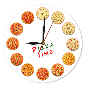 Time For Different Tastes Pizza Wall Clock Italy Restaurant Kitchen Decor Neapolitan Style Italian Food Wall Art Gastronome Gift