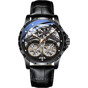 AILANG Original Men's Watch Double tourbillon watch Automatic Hollow-out Machine Watch Men Luminous Waterproof 2019 New design