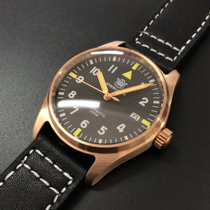 1948 Germany CuSn8 Pilot Watch Bronze Mechanical Watch Men Wrist Sapphire Crystal automatic watch men 200m 20 bar diver watches