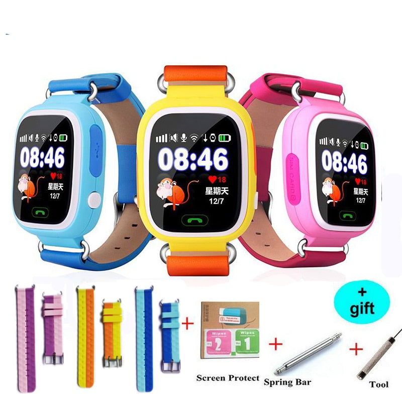 Q90 GPS Smart baby smart watch phone kids GPS Wifi Smart Watch SOS GPS Location Device Tracker Kid Safe Monitor children watch