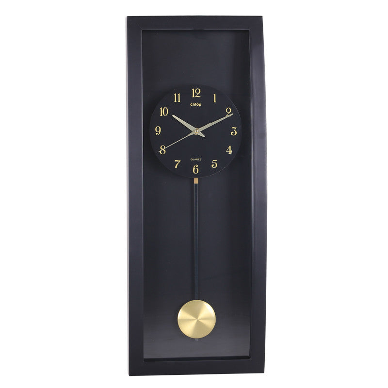 Large Black Wall Clock Vintage Pendulum Clock Wall Living Room Shabby Chic Oversized Clocks Retro Montre Murale Home Decor SC342