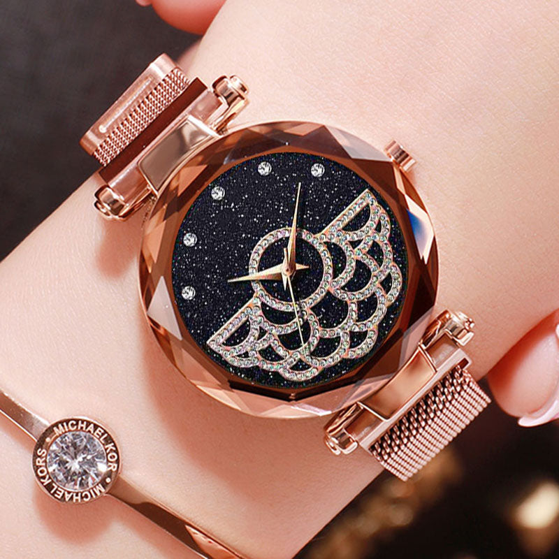 Top Brand Luxury Diamond Women Watch Magnetic Starry Sky Ladies Wrist Watch For Montre Femme 2019 Female Clock relogio feminino