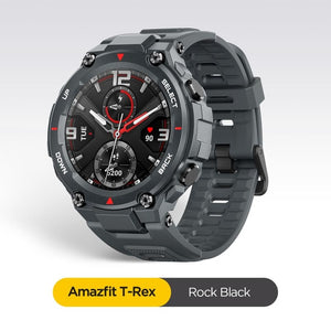 In stock 2020 CES Amazfit T-rex T rex Smartwatch 5ATM waterproof Smart Watch GPS/GLONASS AMOLED Screen for iOS Android