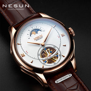 Switzerland NESUN Tourbillon Mechanical Watch Men Luxury Brand Automatic Business Skeleton Waterproof Relogio Masculino M9038-4
