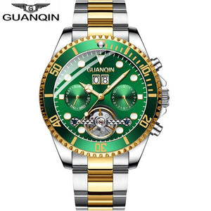 2019 New GUANQIN Clock Automatic diving watch mechanical swimming waterproof Tourbillon style clock men luxury relogio masculino