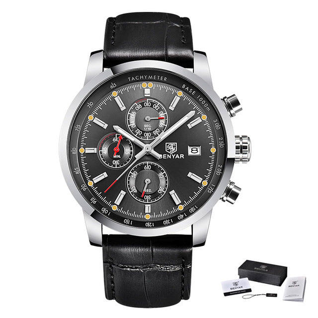 BENYAR Fashion Chronograph Sport Mens Watches Top Brand Luxury Quartz Watch Reloj Hombre saat Clock Male hour relogio Masculino