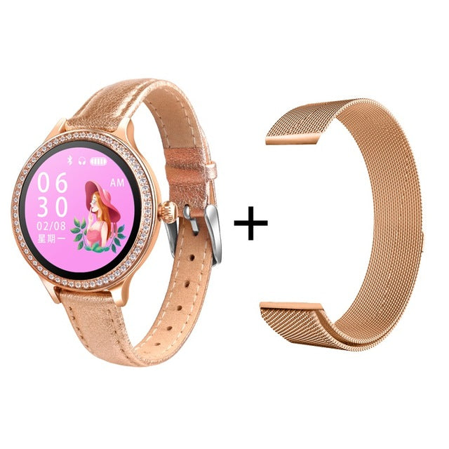 ESEED M8 Women smart watch IP68 Waterproof Lady Smart Band Heart Rate Monitor Fitness Tracker Bracelet smartwatch android ios