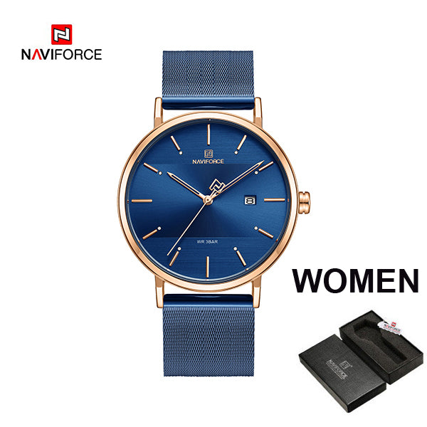 NAVIFORCE Women Watches Top Brand Luxury Waterproof Women Watch Fashion Couple Watch Bracelet watches donna orologio reloj mujer