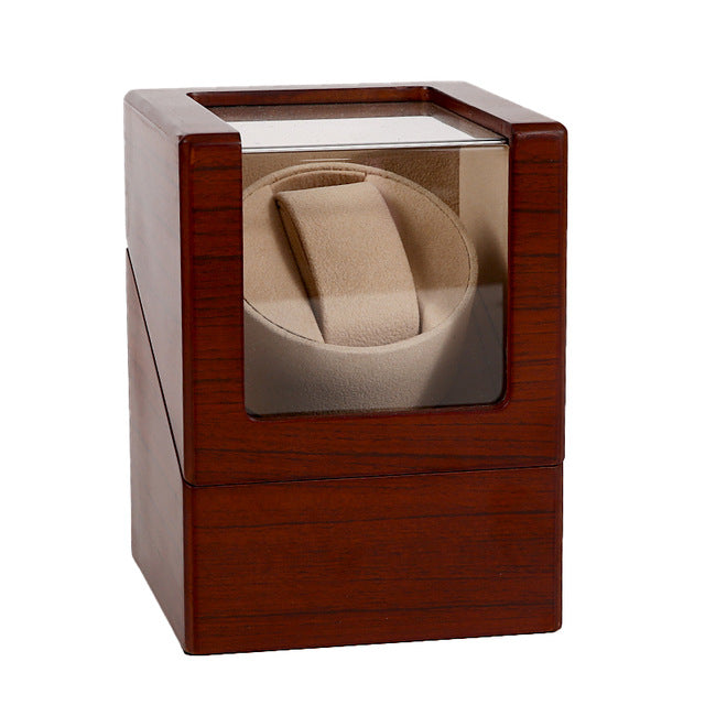 Luxury Fashion High Quality Watch Winder Mover Open Motor Stop Automatic Watch Rotator Display Box Winder Remontoir Wood Leather