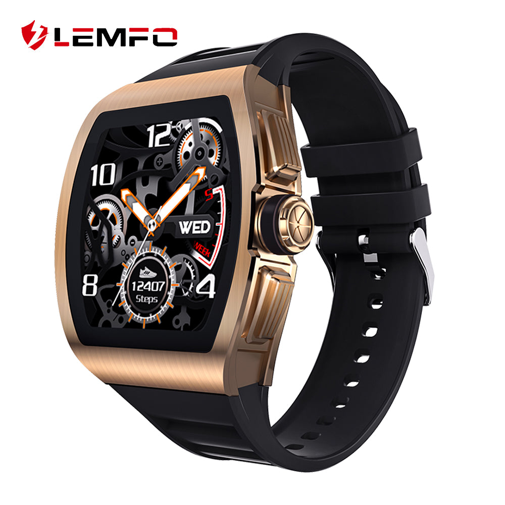 LEMFO M1 Smart Watch Men 24 Hours Heart Rate Monitor IP68 Waterproof Smartwatch For Android IOS Phone Watch Sport Alloy Case