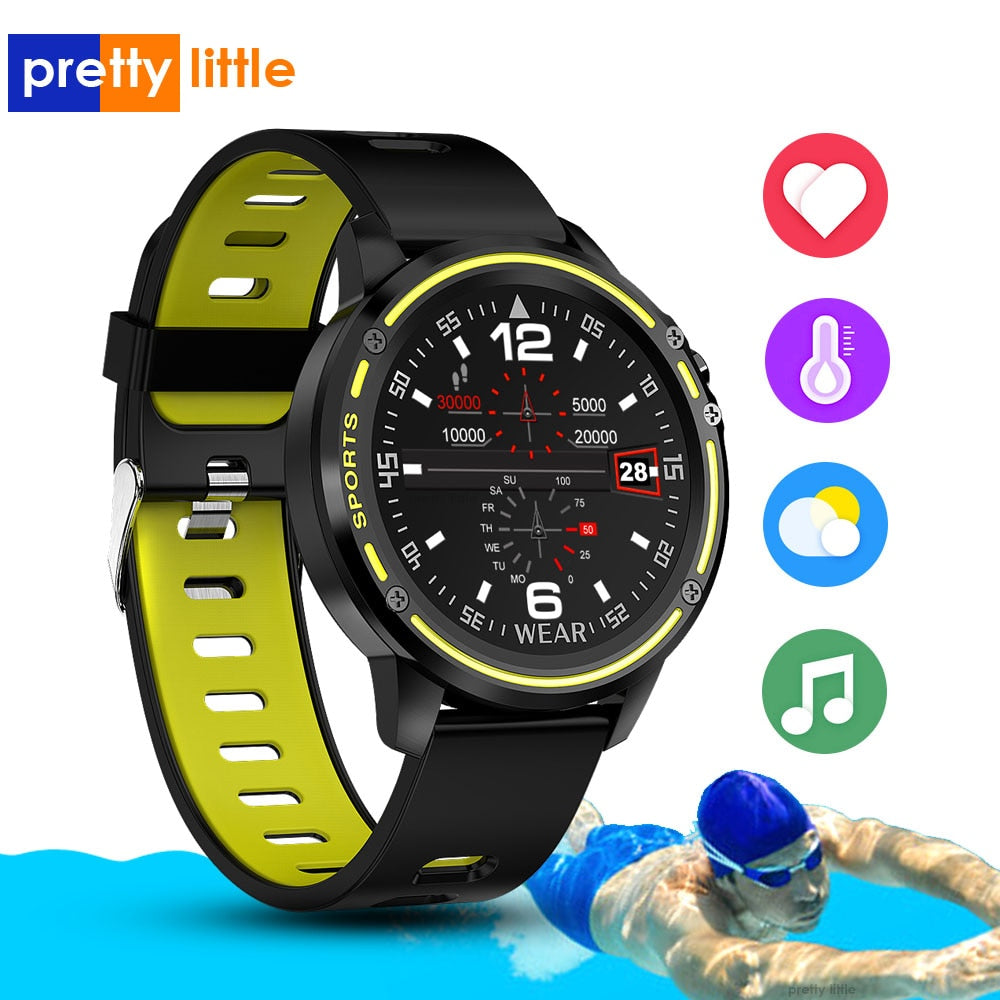 L8 Smart Watch Men IP68 Waterproof Reloj Hombre Multi-sport mode SmartWatch With ECG PPG Blood Pressure Heart Rate fitness watch
