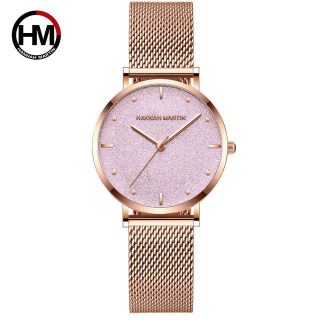 Women Watches Top Brand Luxury Japan Quartz Movement Stainless Steel Sliver White Dial Waterproof Wristwatches relogio feminino