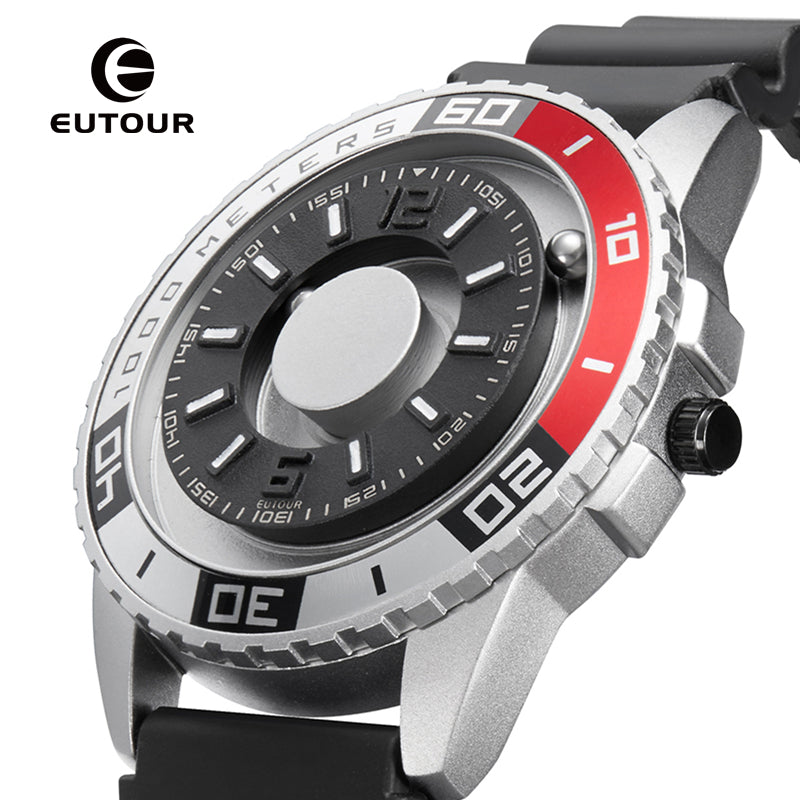 EUTOUR New innovative magnetic metal multi-function men's watch fashion sports quartz watch simple strap pilot