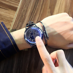 2020 New Casual Fashion Elegant Lady Quartz Bracelet Women Wristwatch LED Jewel Lucky Clover Stainless Steel Case Montre Femme