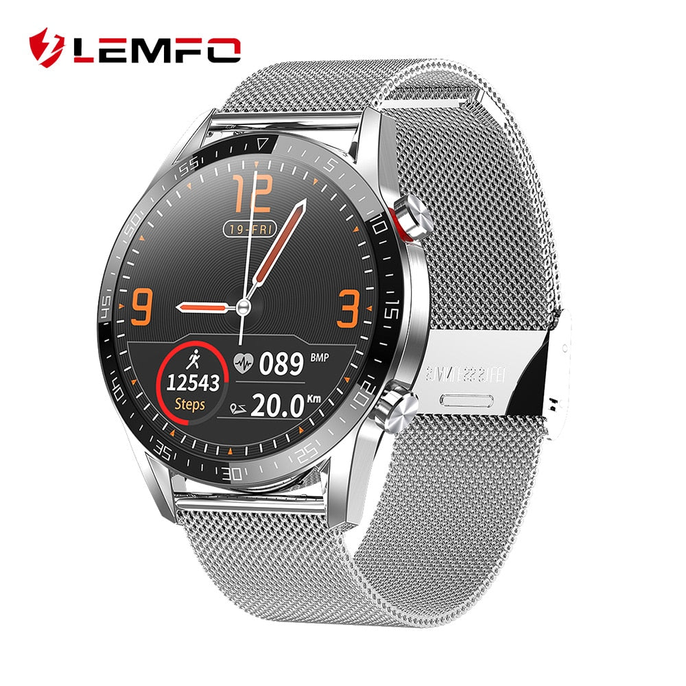 LEMFO ECG Smart Watch Men IP68 Waterproof Support Bluetooth Call Heart Rate GT 2 GTR Smartwatch For Huawei Xiaomi IOS Phone