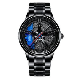 NEKTOM Men Car Wheel Watch Fashion Waterproof Sport Watch Men's Quartz Mesh With Rim Hub Watch Run Quartz Men Quartz Watch