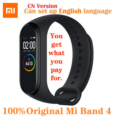 Original Xiaomi Mi Band 4 Smart Watch AMOLED Color Screen HeartRate Fitness Sport 50ATM Waterproof Smart Bracelet  Bluetooth 5.0