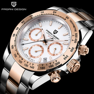 PAGANI DESIGN 2020 New Men's Watches Luxury Mens Quartz Wrist Watch Men Stainless Steel Watch Men Chronograph Relogio Masculino