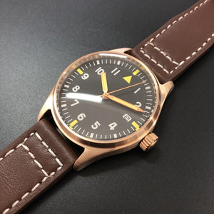 STEELDIVE 1948S Bronze Pilot Watch Japan nh35 Watch Men Automatic C3 Super Luminous 200m Diving Mechanical Men Pilot Wristwatch