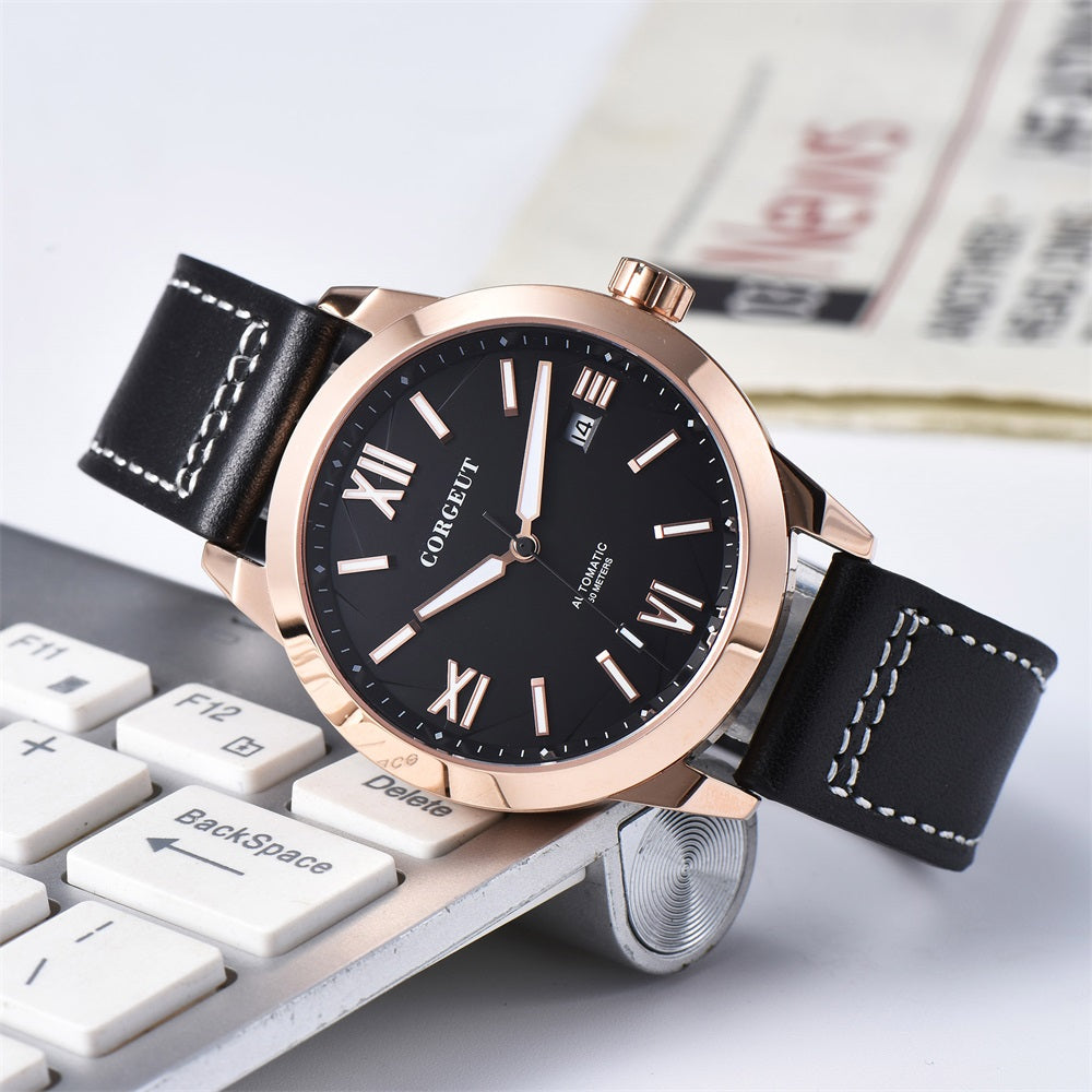 Corgeut Top  Luxury Brand 41mm Miyota 8215 Pilot  Mens Automatic Watches Sapphire Luminous male wristwatch Mechanical 2055